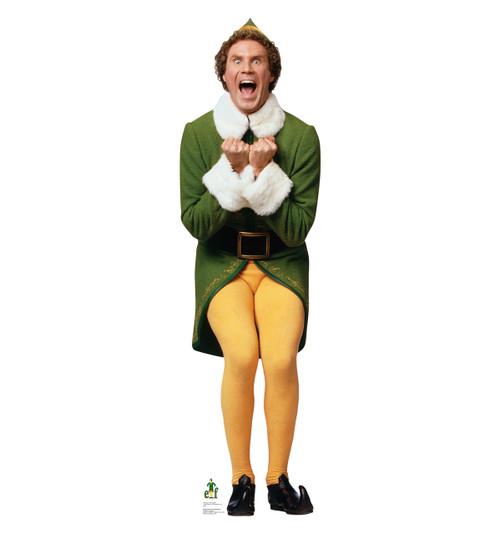 Life-size Excited Buddy - Elf Cardboard Cutout Will Ferrell