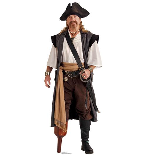 Life-size Pirate Peg Leg Cardboard Standup