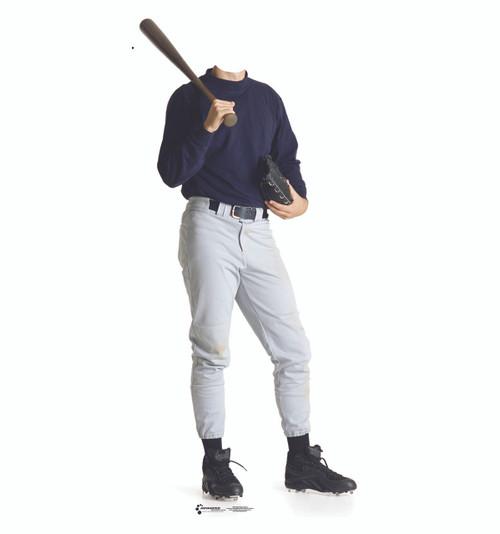 Life-size Baseball Stand-In Cardboard Standup