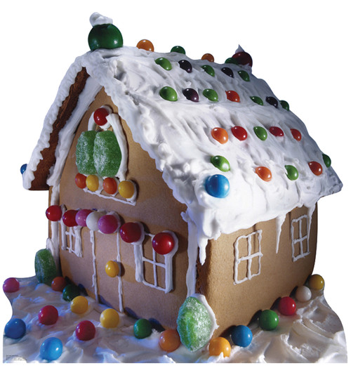 Life-size Ginger Bread House Cardboard Standup