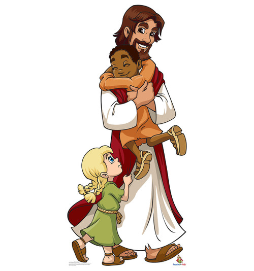 Jesus with Children - Cardboard Cutout 2020