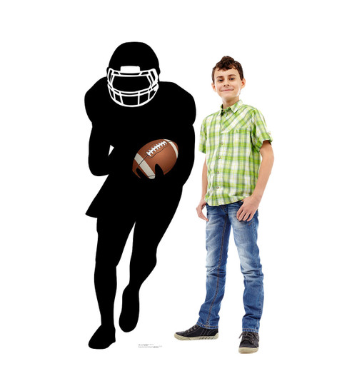 Life-size Football Player Running Back Silhouette Cardboard Standup 2