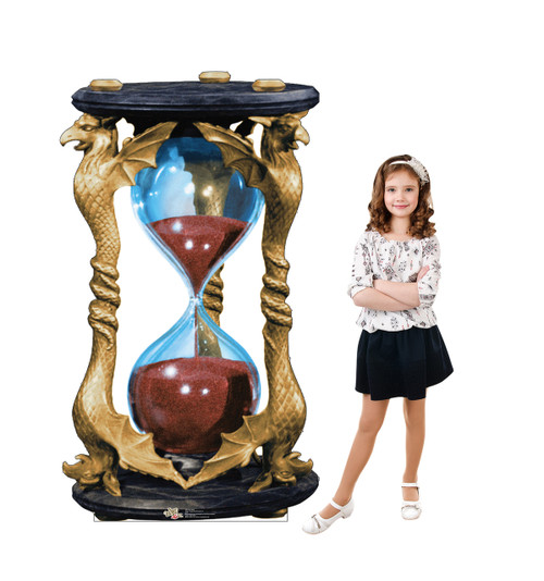 Larger than life-size Hour Glass Cardboard Standup