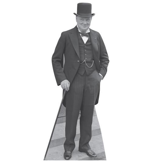 Life-size Winston Churchill Cardboard Standup