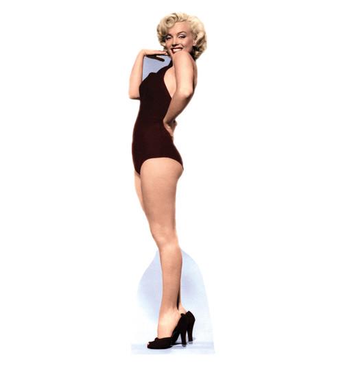 Life-size Marilyn - Burgundy Swimsuit Cardboard Standup