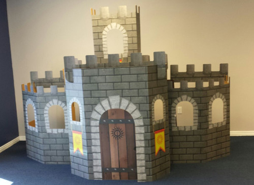 Life-size 3D Castle Standup/Playhouse Cardboard Standup | Cardboard Cutout