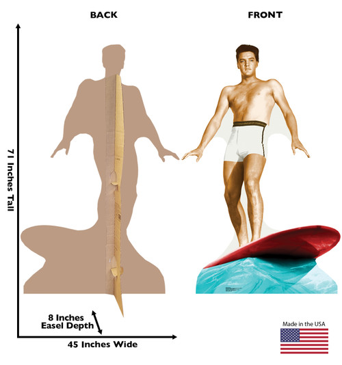 Elvis Presley Surfing - Talking - Cardboard Cutout 846T