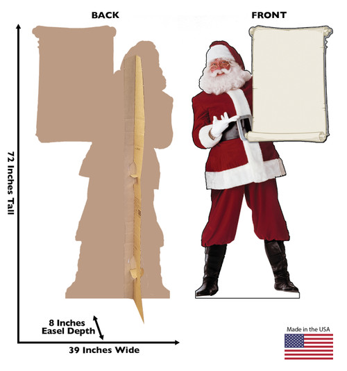 Santa Claus with Scroll - Cardboard Cutout 433