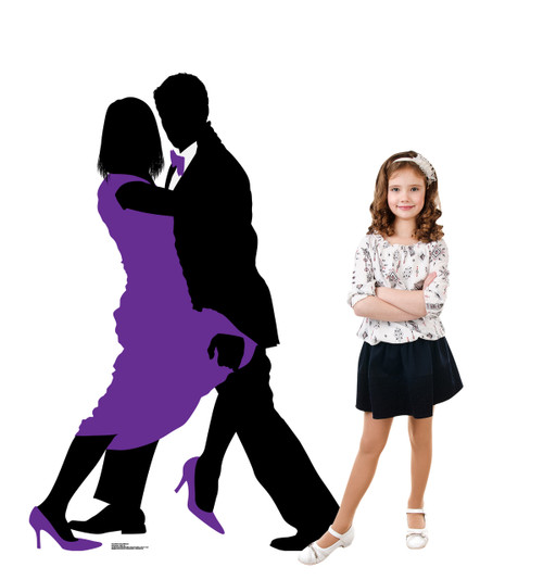 Life-size Ballroom Dancers Silhouette Cardboard Standup 2