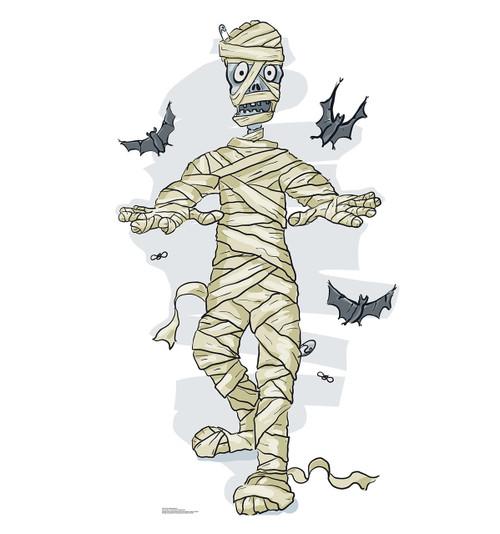 Life-size Cartoon Mummy & Bats Cardboard Standup |Cardboard Cutout 2