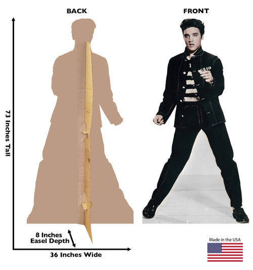 Elvis Jailhouse Rock - Talking - Cardboard Cutout 840T