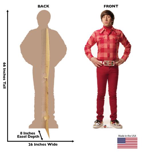 Howard from The Big Bang Theory cardboard cutout