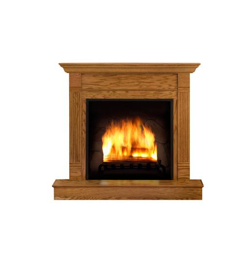 Life-size Fireplace Cardboard Standup 2
