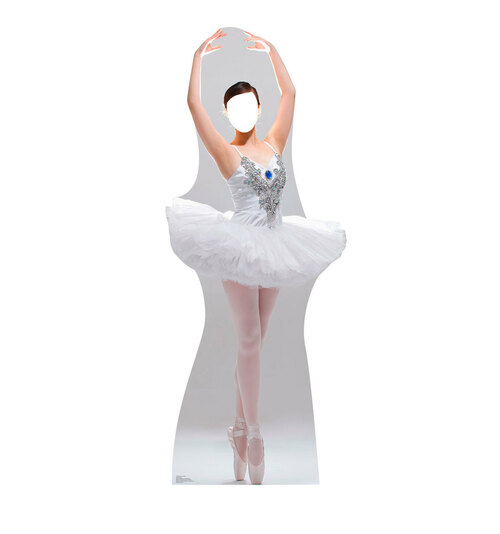 Ballerina Stand-In Cardboard Cutout Front View