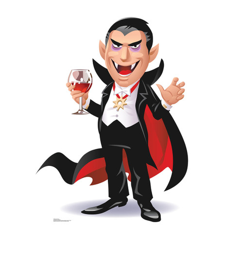 Life-size Cartoon Dracula Cardboard Standup 2