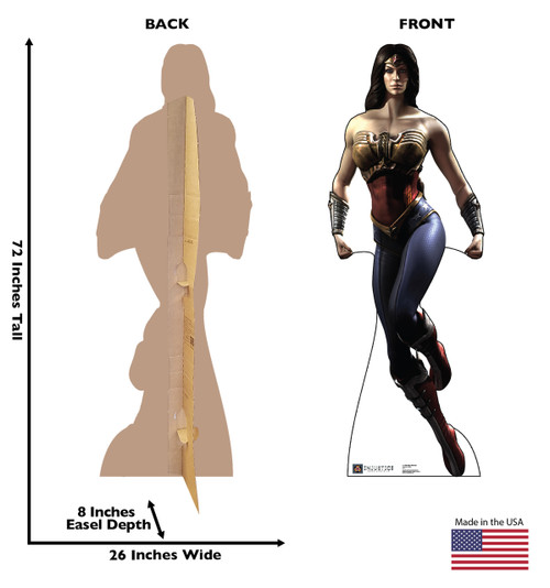 Life-size Wonder Woman - Injustice Gods Among Us Cardboard Standup