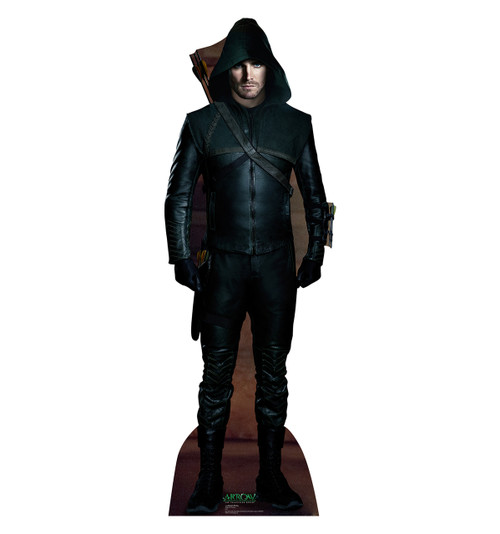 Life-size Green Arrow - Arrow Cardboard Standup