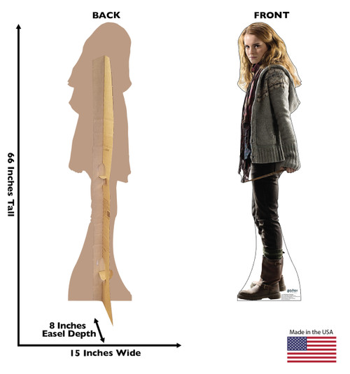 Life-size Hermione Granger - Deathly Hallows Cardboard Standup