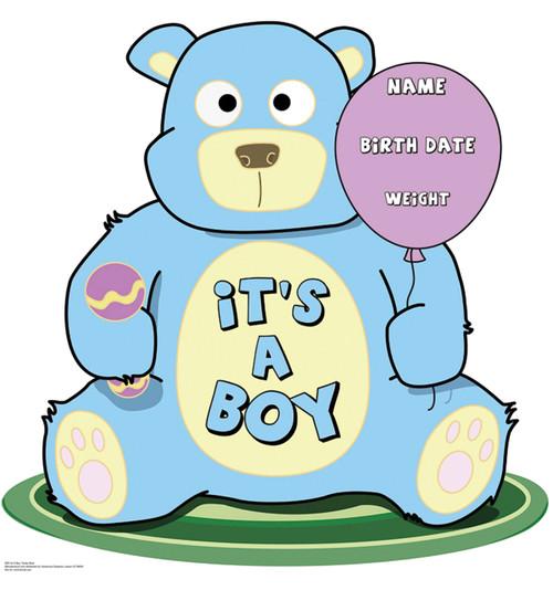 Its A Boy Teddy Bear Cardboard Cutout 800