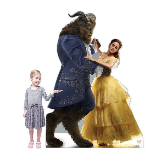 Life-size Belle and the Beast (Disney's Beauty and the Beast) Cardboard Standup