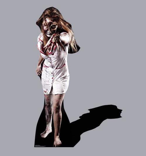 Life-size Skeleton Zombie Nurse Cardboard Standup