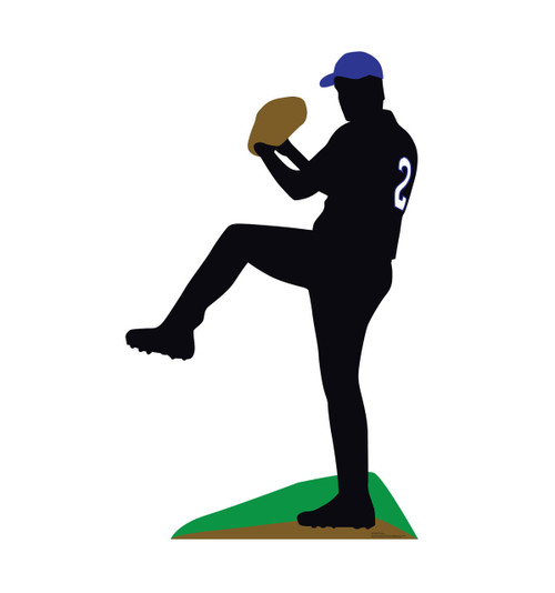 Life-size Baseball Player Sillouette Cardboard Standup