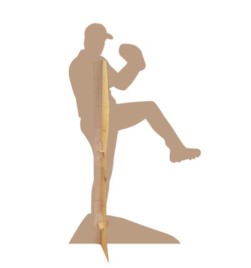 Life-size Baseball Player Sillouette Cardboard Standup 2