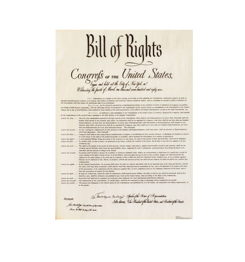Life-size Bill of Rights Cardboard Cutout Cardboard Standup