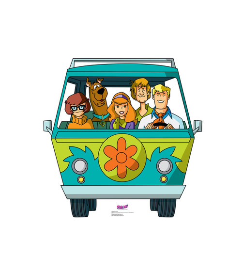 Life-size Mystery Machine (Mystery Incorporated) Cardboard Standup