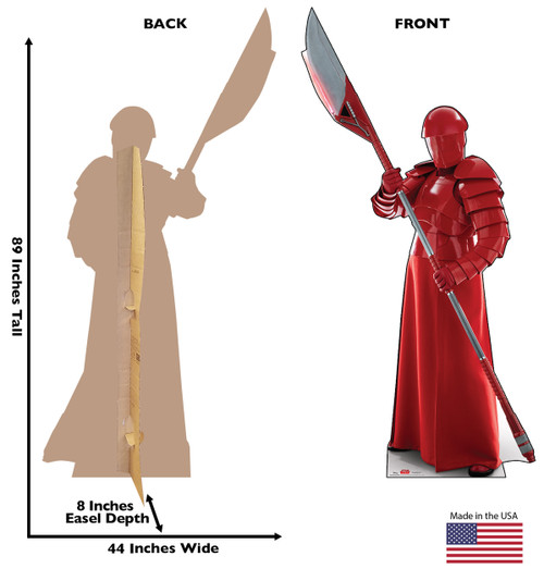 Praetorian Guard - Star Wars: The Last Jedi Cardboard Cutout 1 with back and front dimensions