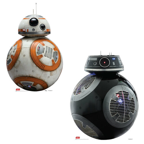 BB-8 & BB-9E Cardboard Cutout Front View