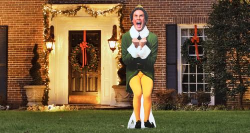 Will Ferrell Elf Christmas Outdoor Cutout Christmas Decor  Cutout