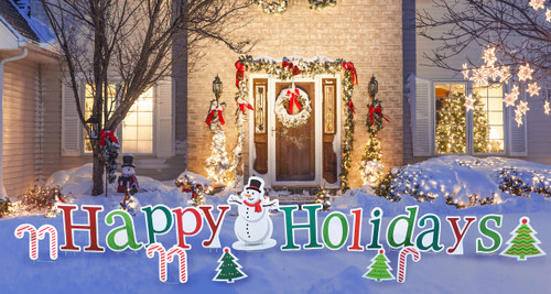 Happy Holidays Yard Sign Outdoor 2580