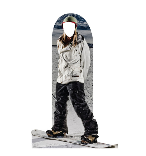 Snowboarding Standin Cardboard Cutout-front