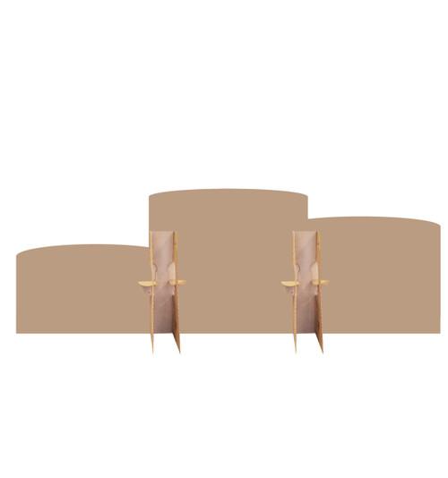 Winners Podium Standin Cardboard Cutout-back