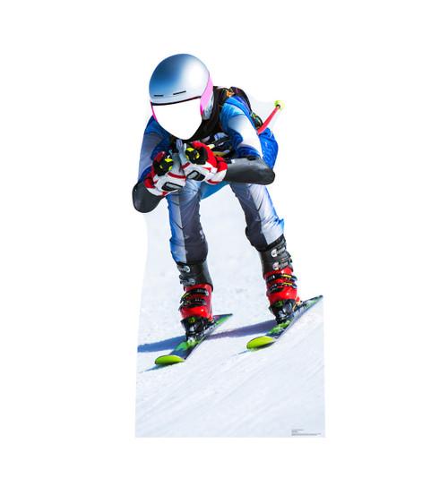Downhill Skier Standin Cardboard Cutout-front