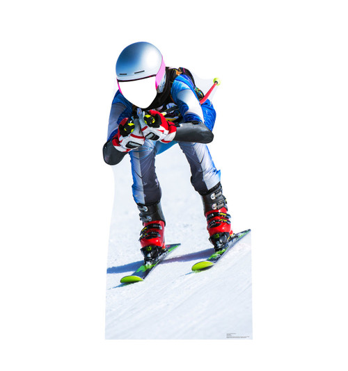 Downhill Skier Standin Cardboard Cutout-front