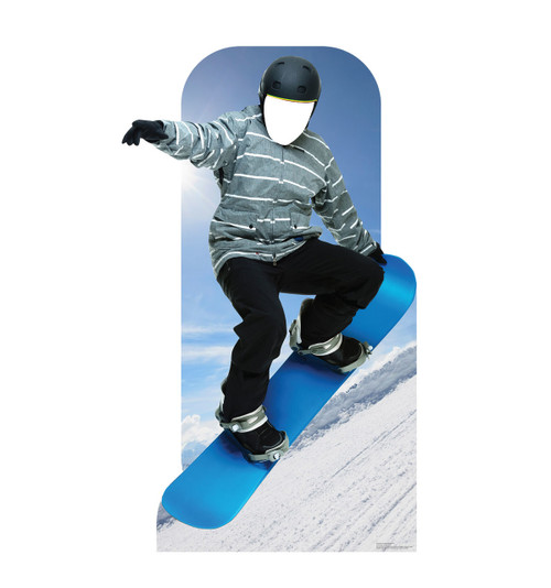 Action Snowboarder Standin Cardboard Cutout-front