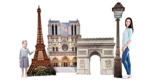 Paris Landmark Cardboard Cutout  2697