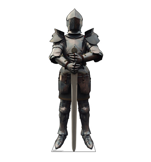 Life-size cardboard standee of a Knight in Armor.