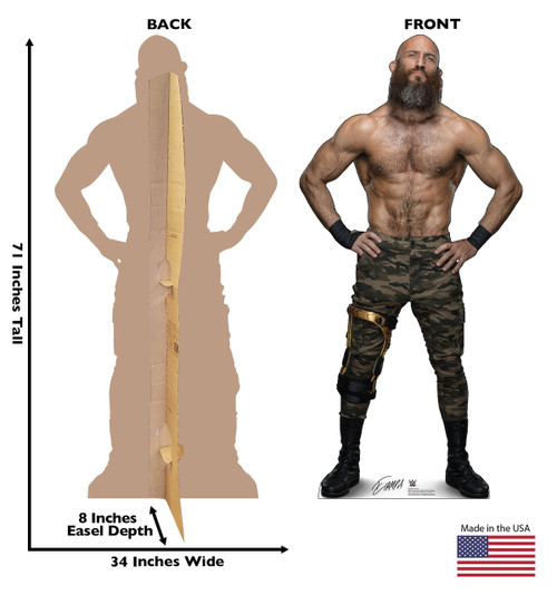 Tommaso Ciampa Life-size cardboard standee front and back with dimensions.