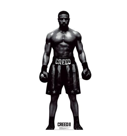Life-size cardboard standee of Adonis Creed from Creed II.