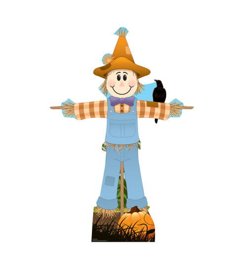 Life-size cardboard standee of Scarecrow Male.