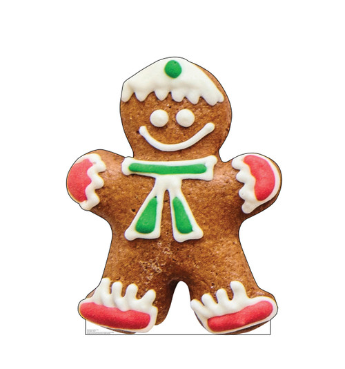 Life-size cardboard standee of Gingerbread Man Cookie.