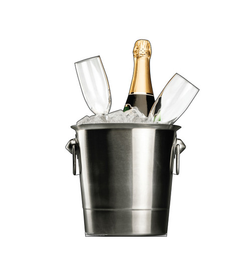 Life-size cardboard standee of a Champagne Bucket.