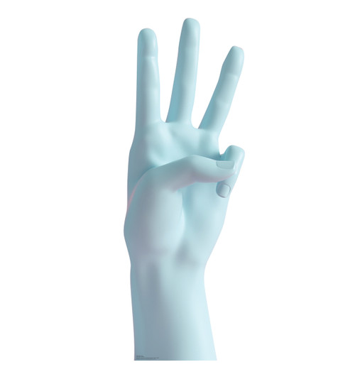 Life-size cardboard standee of a Number 3 Hand.