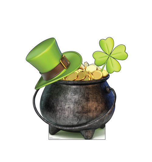 Life-size cardboard standee of a Pot of Gold.