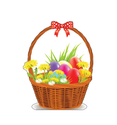 Life-size cardboard standee of an Easter Basket.