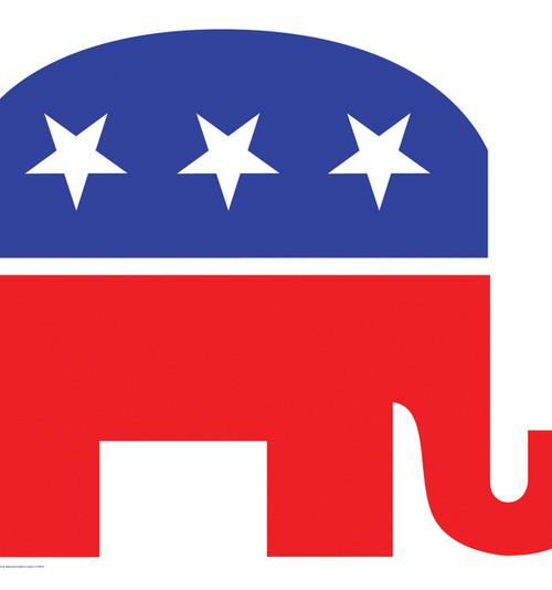 Life-size Republican Elephant Cardboard Standup | Cardboard Cutout