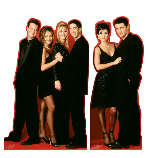 Life-size cardboard standee of the Friends characters.